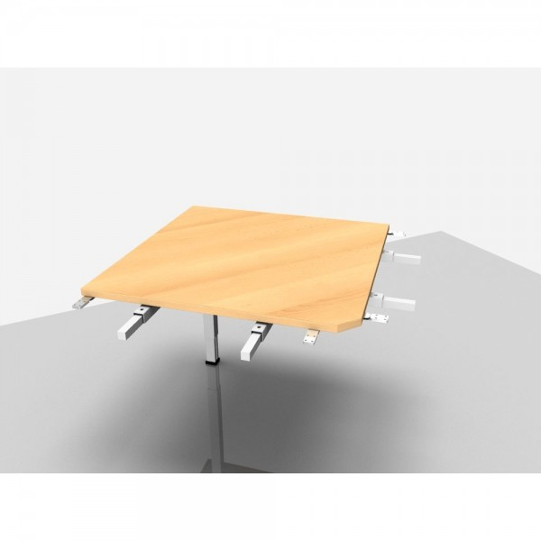 Winkelplatte Trend Pro Komfort 90° mit kpl. Ecke, buche