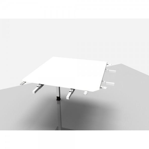 Winkelplatte Trend Pro 90° mit kpl. Ecke, 800x800x680-820mm, weiß