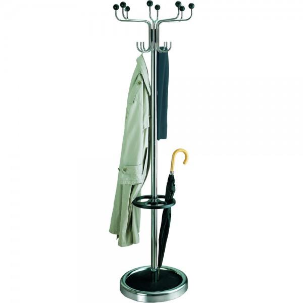 Garderobenständer Rondo chrom 185 x 53cm Standfuß