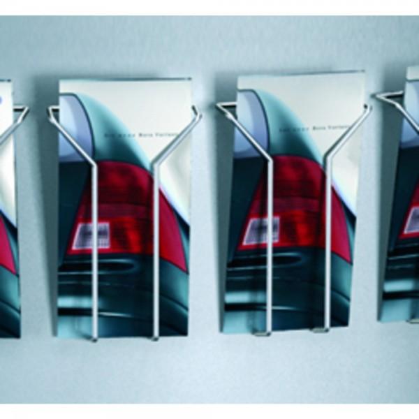Prospektfach DIN-lang tec-art silber  2er-Pack