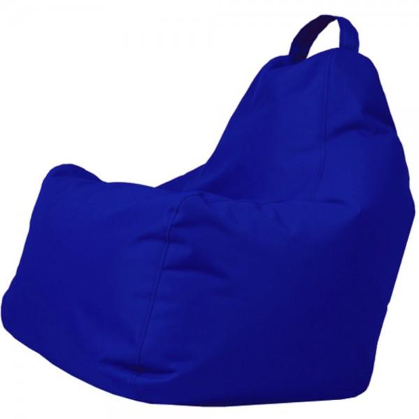 B!chair Sitzsack mit Griff blau 80x80x80