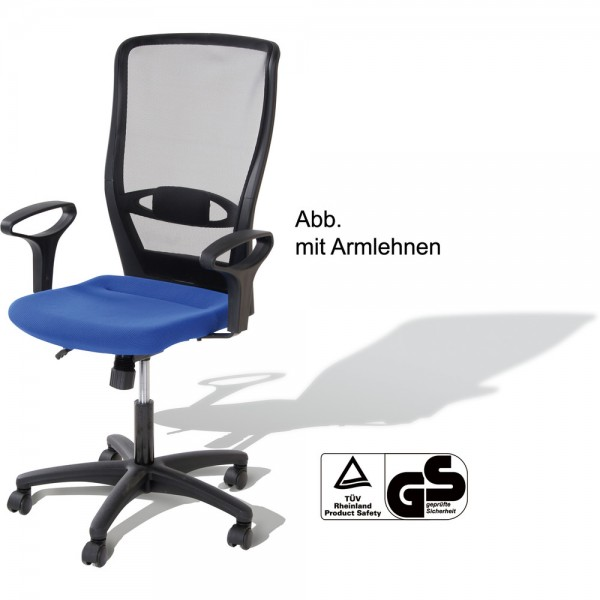 Bürostuhl Younico 4, o.Arml., Tec, blau