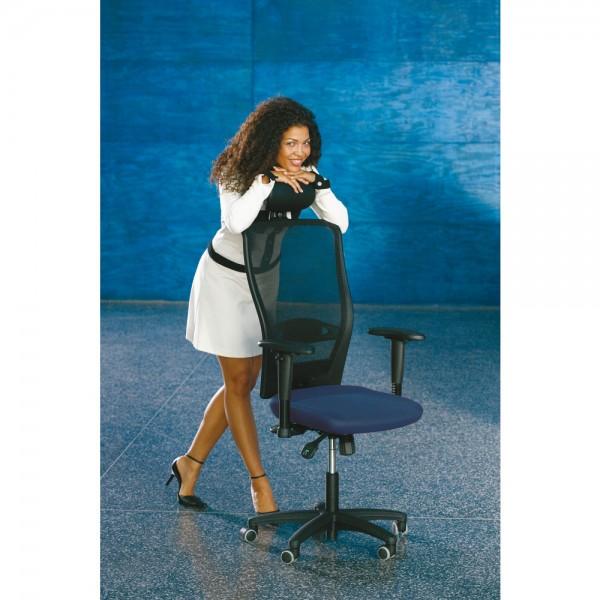 Bürostuhl Younico 5, o.Arml., Tec, blau
