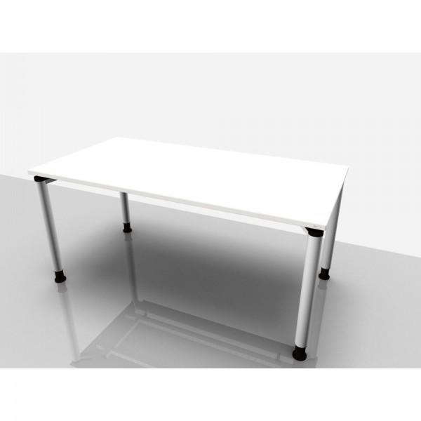 Schreibtisch Rechteckform Rialto Pro, 1.600x800x680-820mm, grau