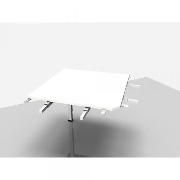Winkelplatte Trend Pro Komfort 90° mit kpl. Ecke, grau