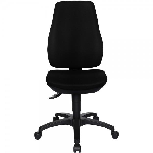 Bürodrehstuhl Ergo Basic, ohne Armlehnen, Kunststofffußkreuz, schwarz