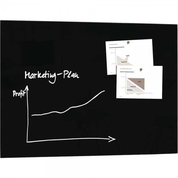 Glas-Magnetboard artverum schwarz 1200x900x15