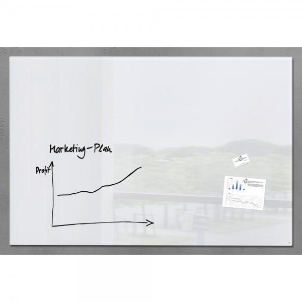 Glas-Magnetboard artverum weiß 1500x1000x18