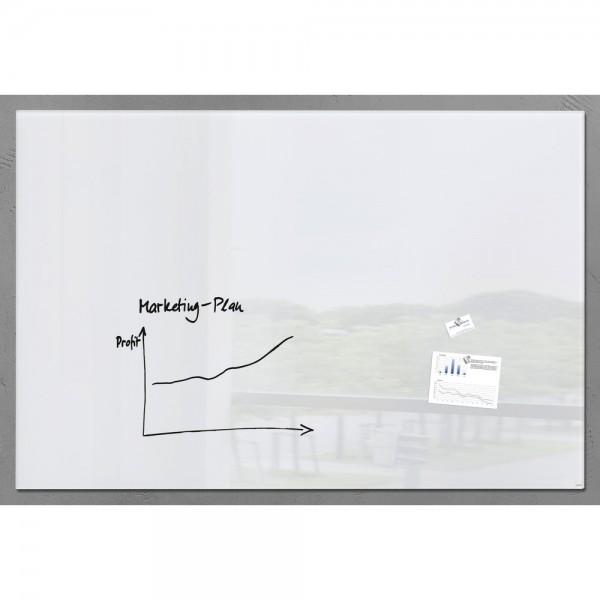Glas-Magnetboard artverum weiß 1800x1200x18