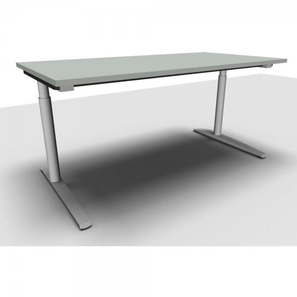 Schreibtisch All in One li.grau 160x80