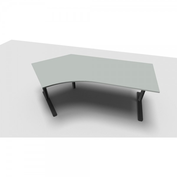 Schreibtisch All in One, li.abgew., 2.170x1.130/800x650-820mm, lichtgr