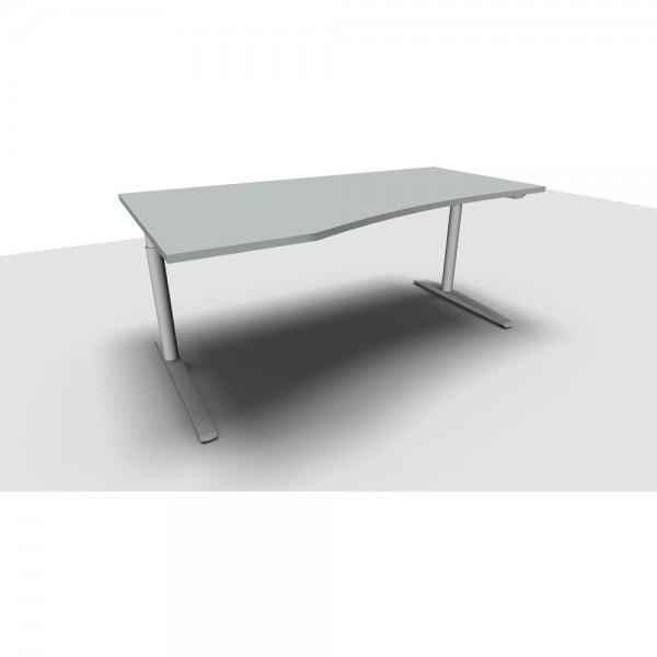 Freiformtisch All in One, links, 1.800x1.000/800x650-850mm, lichtgrau