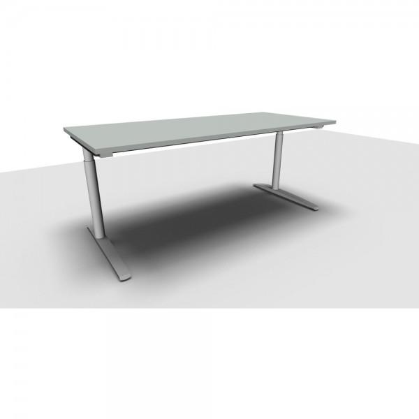 Schreibtisch All in One M li.grau 180x80