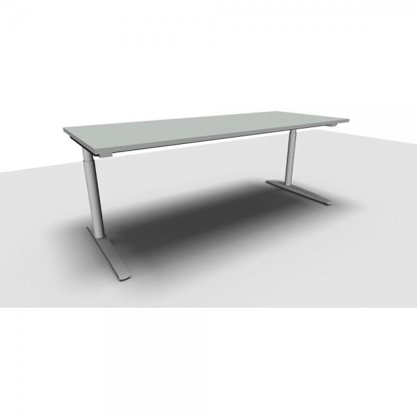 Schreibtisch All in One M li.grau 200x80