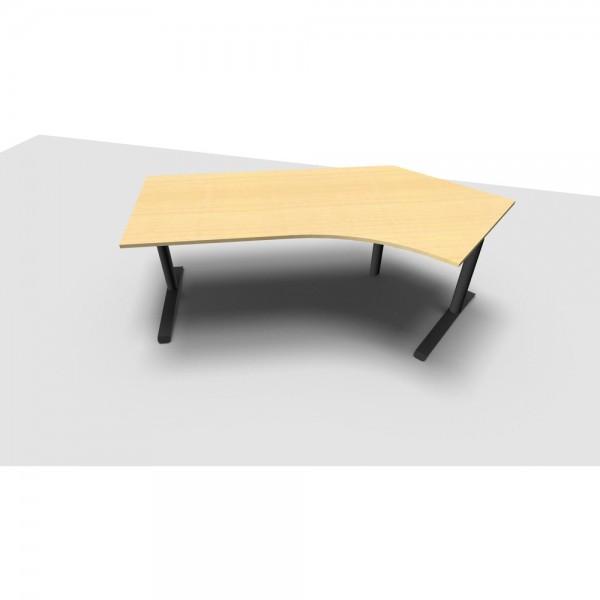 Schreibtisch All in One, re.abgew., 2.170x1.130/800x650-820mm, ahorn