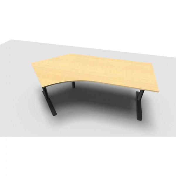 Schreibtisch All in One, li.abgew., 2.170x1.130/800x650-820mm, ahorn