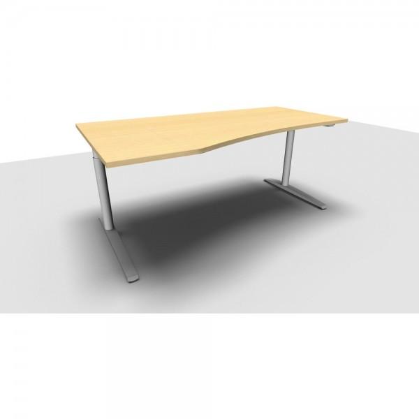 Freiformtisch All in One, links, 1.800x1.000/800x650-850mm, ahorn