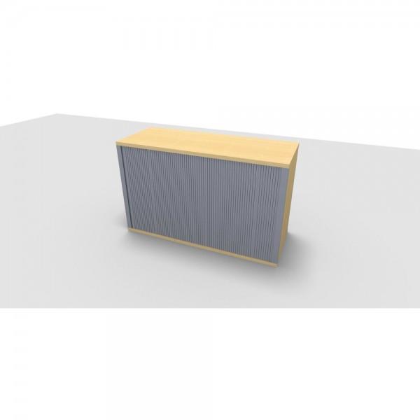 Aufsatzrollladenschrank All in One, 2OH, 1.200x442x736mm, ahorn