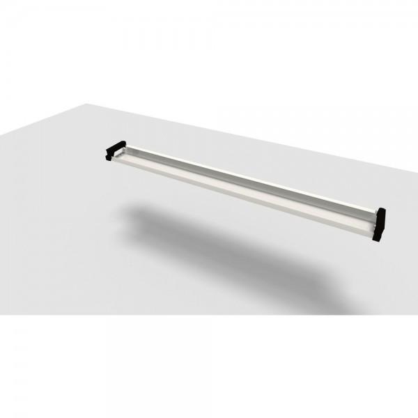 Kabelkanal Jump, für 200 cm Tischbreite, alusilber