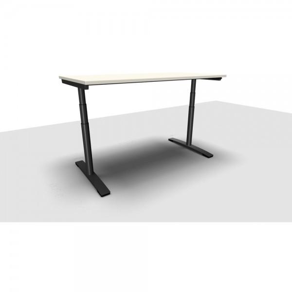 Schreibtisch Jump Move Doppelhub, 1.600x800x650-1.300mm, perlweiß