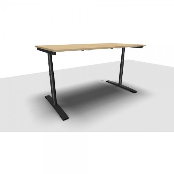 Schreibtisch Jump Move Doppelhub, 1.800x900x650-1.300mm, ahorn