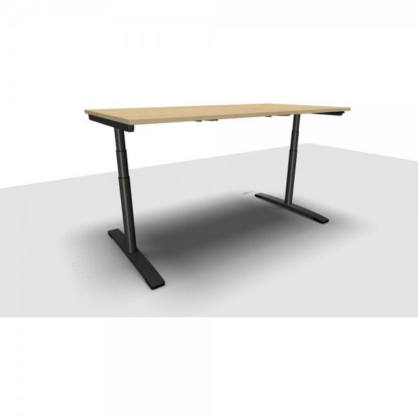 Schreibtisch Jump Move Doppelhub, 1.800x800x650-1.300mm, ahorn