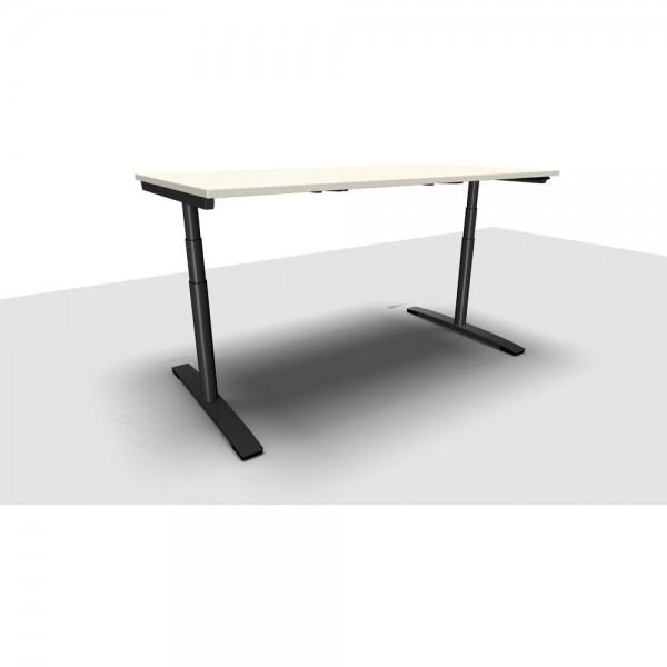 Schreibtisch Jump Move Doppelhub, 1.800x800x650-1.300mm, perlweiß