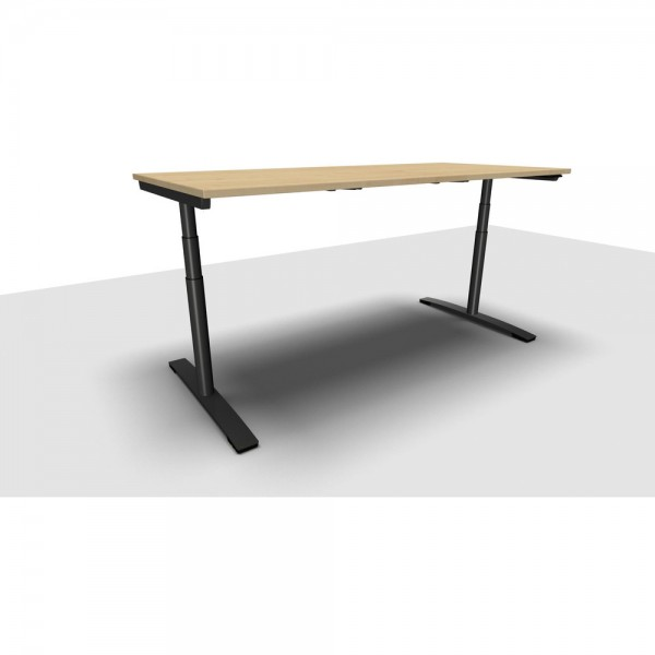 Schreibtisch Jump Move Doppelhub, 2.000x900x650-1.300mm, ahorn
