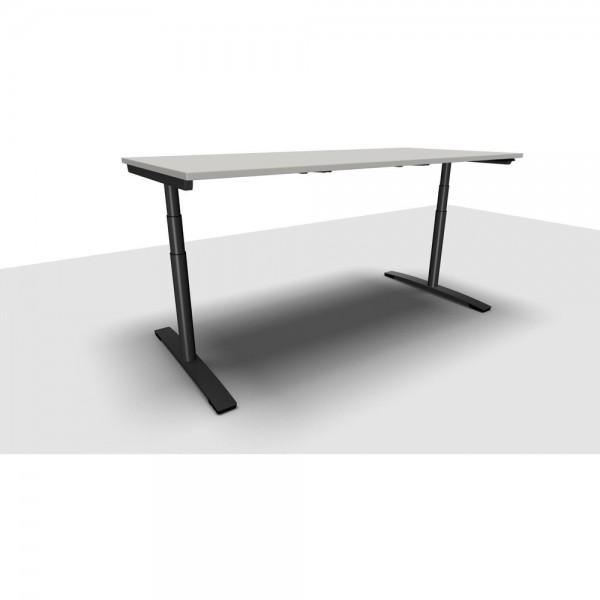 Schreibtisch Jump Move Doppelhub, 2.000x900x650-1.300mm, lichtgrau