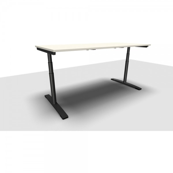 Schreibtisch Jump Move Doppelhub, 2.000x900x650-1.300mm, perlweiß