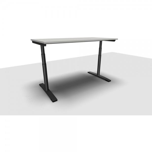 Schreibtisch Jump Move Doppelhub, 1.600x800x650-1.300mm, lichtgrau
