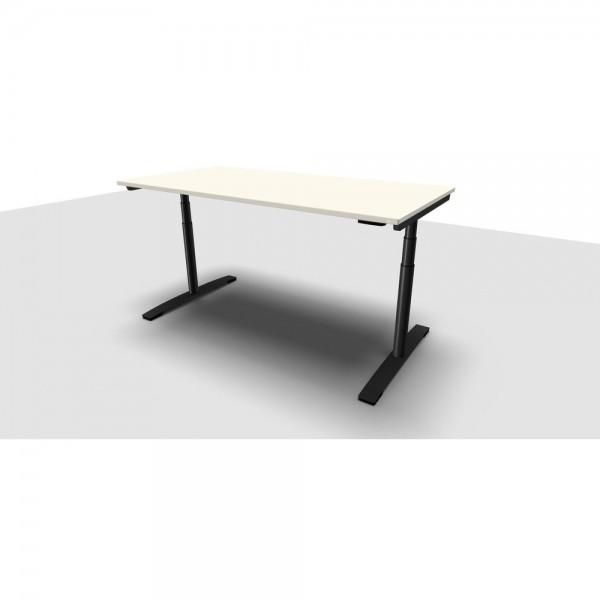 Schreibtisch Jump Move Einfachhub, 1.800x900x680-1.180mm, perlweiß