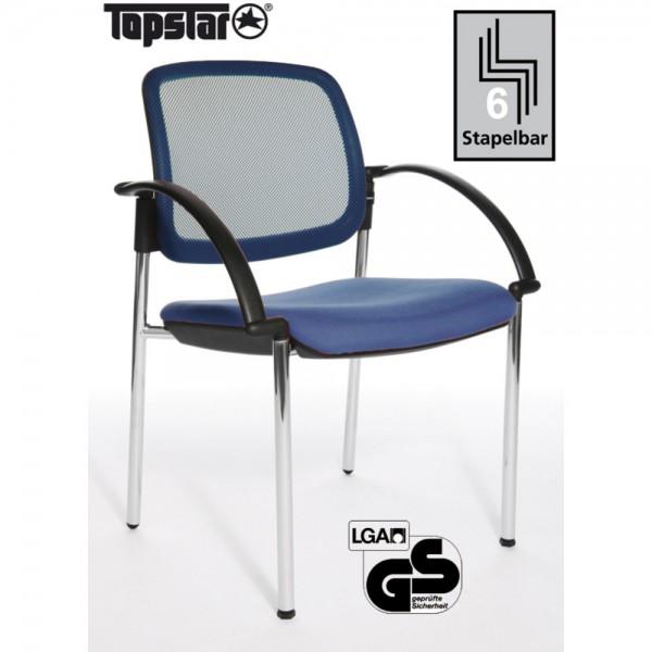 Besucherstuhl Open Chair 10 Visitor, m.Arml., blau