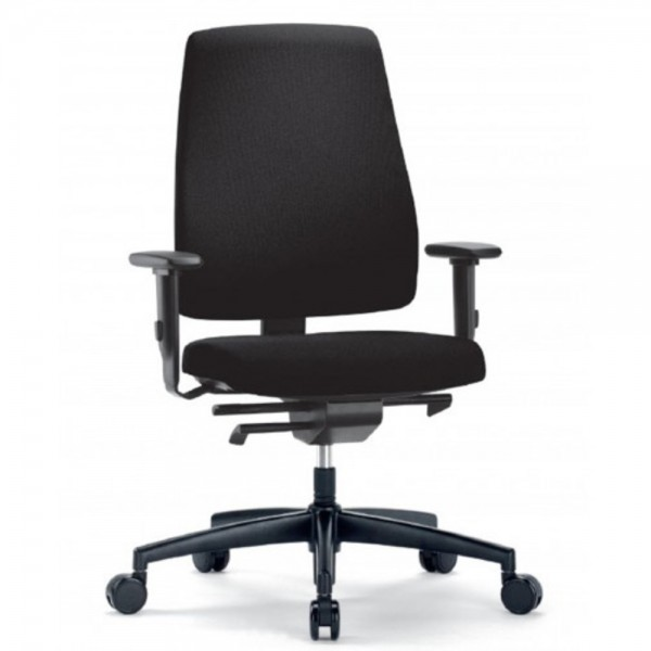 Bürostuhl Goal mit Sitztiefenvertellung, m.Arml., schwarz