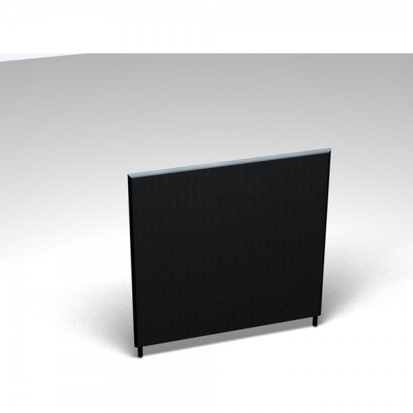 Vollwand Acoustic, Stoffgr. F, Höhe 120, 1.200x35x1.200mm, dunkelgrau