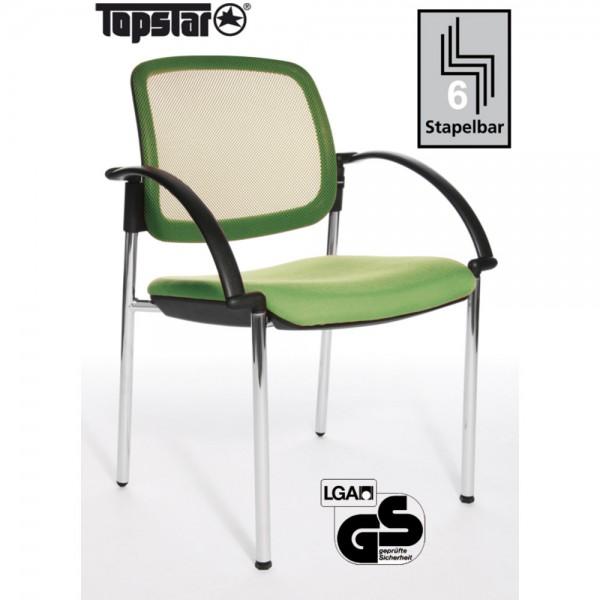 Besucherstuhl Open Chair 10 Visitor, m.Arml., hellgrün