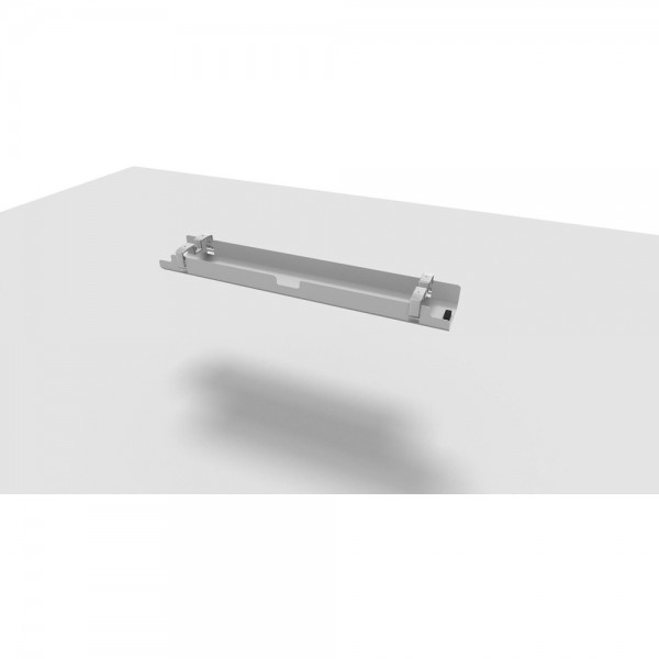 Kabelkanal All in One, 140 cm, für 180 cm Tisch, alusilber