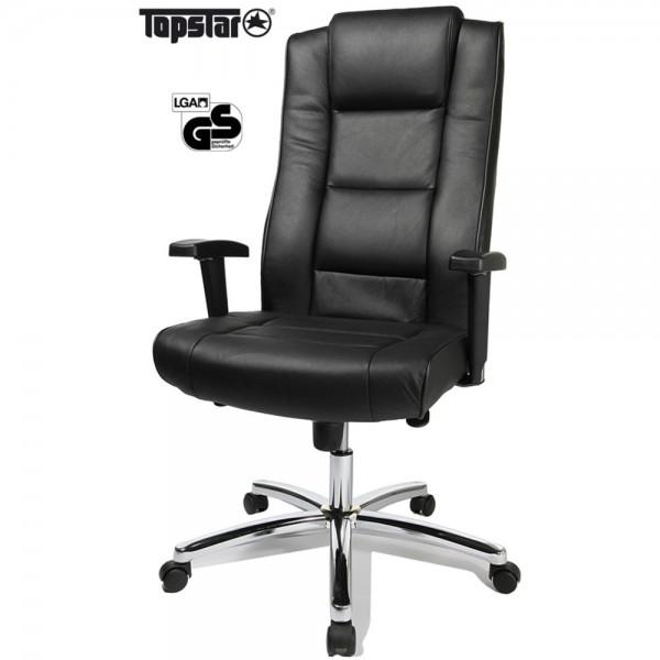 Bürostuhl Chairman 10, Leder, schwarz