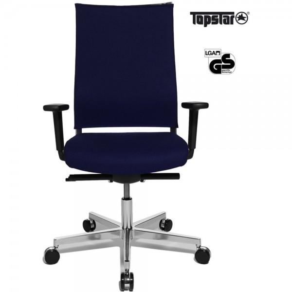 Bürostuhl T400 Objekt, ohne Kopfstütze, dunkelblau