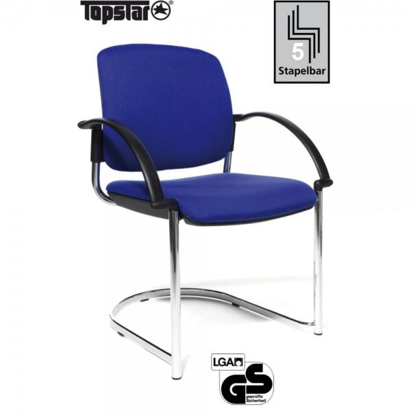 Besucherstuhl Open Chair 40 Visitor, Gepolstert, blau