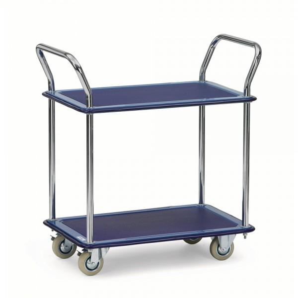 Transportwagen, mit 2 Böden, Ladefläche: 480 x 740 mm, Tragf.: 120 kg