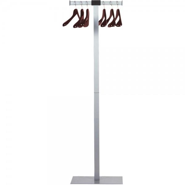 Garderobenständer SPIRIT, Stahl, 500x1.750mm, grau