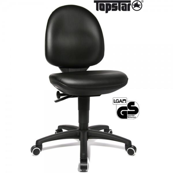 Arbeitsstuhl TEC 50, höhenverstellbar, ohne Armlehnen, schwarz