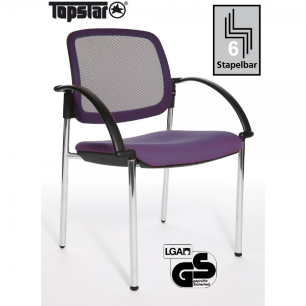 Besucherstuhl Open Chair 10 Visitor, m.Arml., lila
