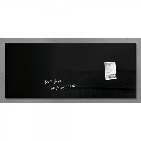 Glas-Magnetboard Artverum schwarz 130x55x1,5cm
