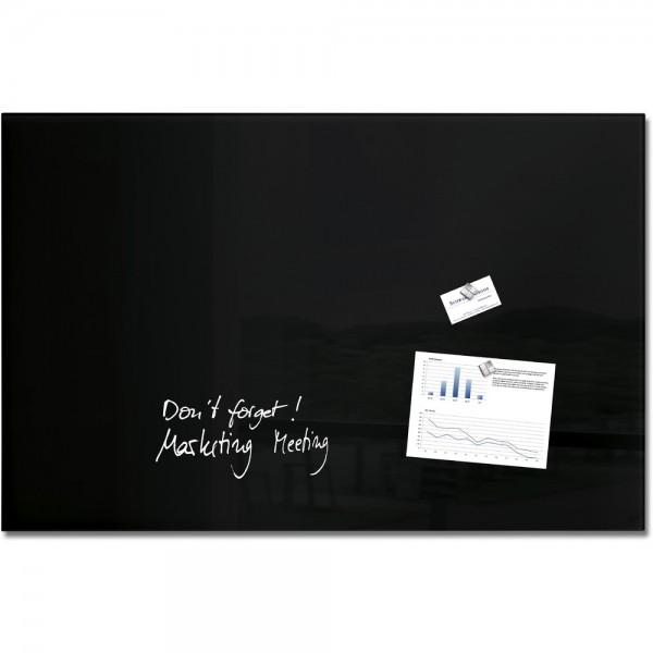 Glas-Magnetboard artverum schwarz 100x65x1,5cm