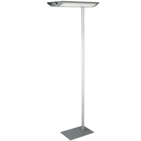 Standleuchte MAULnaos silber H:190cm Energiespar 2x55W
