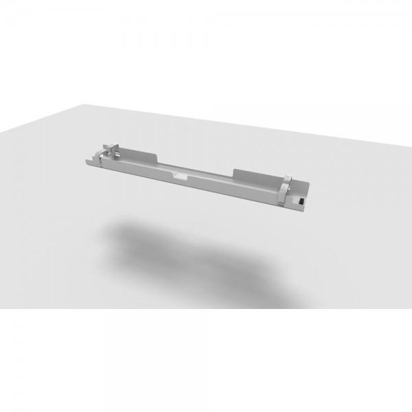 Kabelkanal All in One, 160 cm, für 200 cm Tisch, alusilber