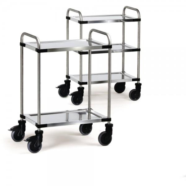 Transportwagen, mit 3 Böden, Ladefläche: 400 x 630 mm, Tragf.: 150 kg