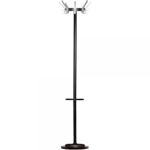 Garderobenständer CYPRES, Stahl, 8 Haken, 340 x 1.700 mm, schwarz